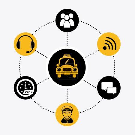 Illustration pour Design graphique taxi, illustration vectorielle - image libre de droit
