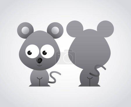 Animal cute graphic design , vector illustration...
