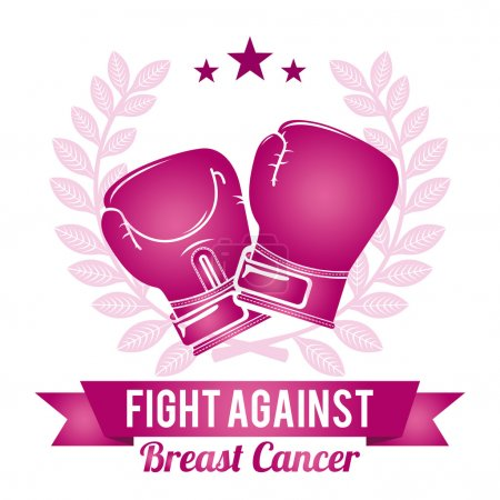Illustration for Breast cancer graphic design , vector illustration - Royalty Free Image