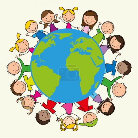 Illustration pour Dessin d'enfants, illustration vectorielle - image libre de droit