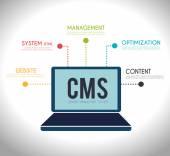 CMS design over white background vector illustration