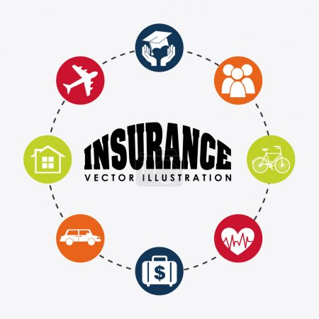 Illustration for Insurance icon design, vector illustration eps10 graphic - Royalty Free Image