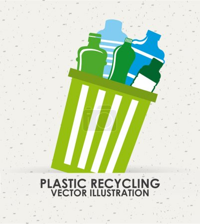 Illustration pour Conception d'icône de recyclage, illustration vectorielle eps10 graphique - image libre de droit
