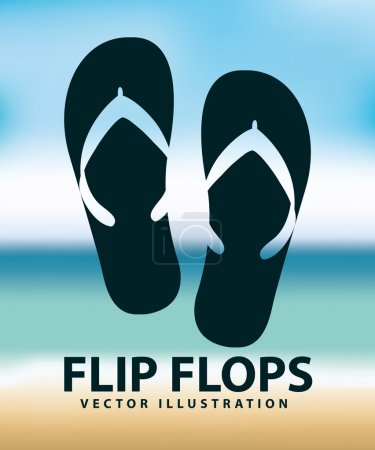 Flip flops design, vector illustration eps10 graph...