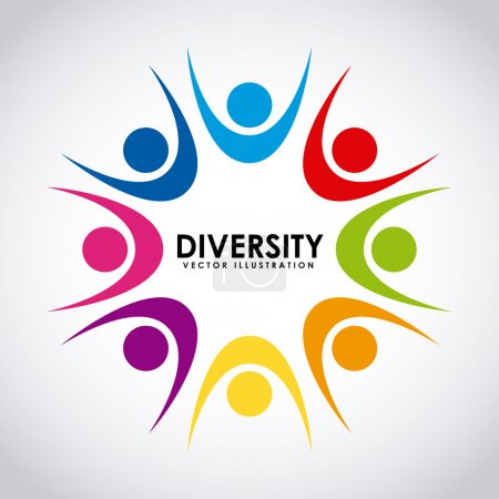 Illustration for Diversity concept design, vector illustration eps10 graphic - Royalty Free Image