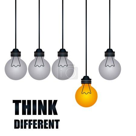 Illustration pour Penser design différent, illustration vectorielle eps10 graphique - image libre de droit