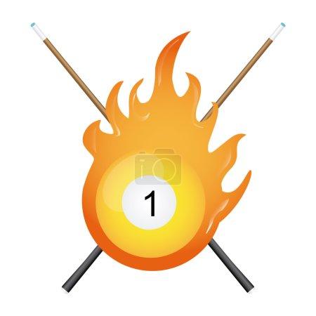 Billiard tournament design, vector illustration ep...