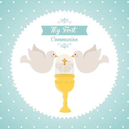 Illustration pour Ma première conception de communion, illustration vectorielle eps10 graphique - image libre de droit