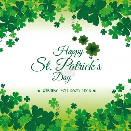St patricks day carte design, illustration vectorielle