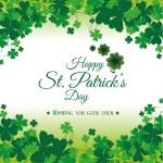 St patricks day card design, vector illustration....