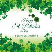 St patricks day card design vector illustration