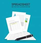 Spreadsheet design vector illustration