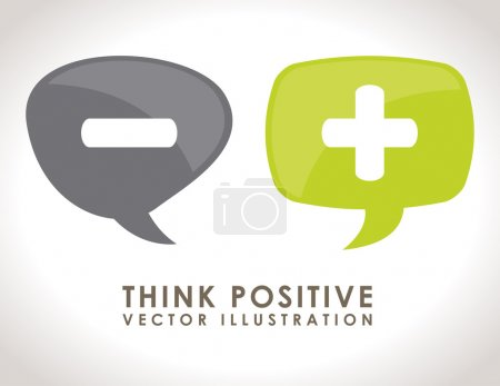 Illustration for Think positive design, vector illustration eps10 graphic - Royalty Free Image