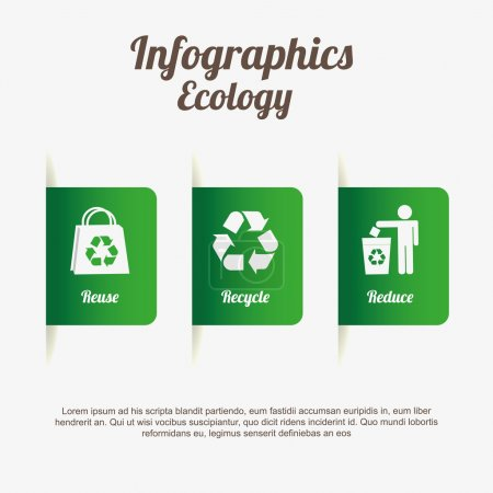 Illustration for Ecology infographics  design, vector illustration eps10 graphic - Royalty Free Image