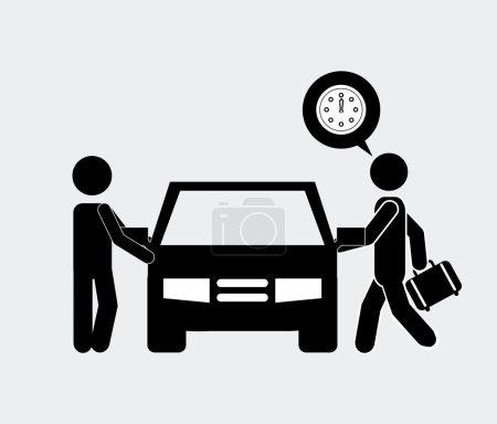 Illustration pour Conception de voiture de conducteur, illustration vectorielle eps10 graphique - image libre de droit