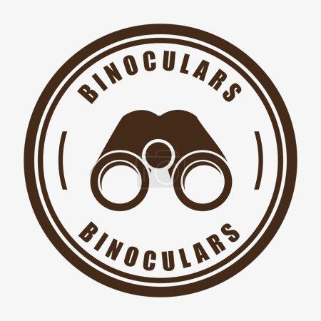 Illustration for Binoculars icon design, vector illustration eps10 graphic - Royalty Free Image