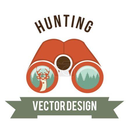 Illustration for Deer signal design, vector illustration eps10 graphic - Royalty Free Image