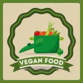 Veganské jídlo design