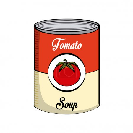 Illustration for Tomato soup design, vector illustration eps10 graphic - Royalty Free Image