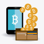 Bitcoin design vector illustration