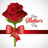 Mothers day card design vector illustration
