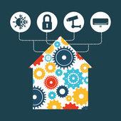 Smart house design vector illustration eps10 graphic