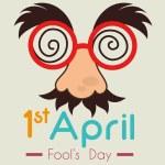 April fools day card design, vector illustration....