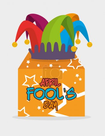 Illustration for April fools day card design, vector illustration. - Royalty Free Image