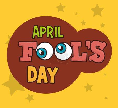 Illustration for April fools day card design, vector illustration. - Royalty Free Image