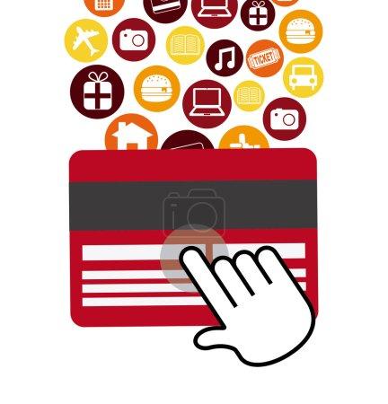Illustration pour Conception du commerce électronique, illustration vectorielle eps10 graphique - image libre de droit