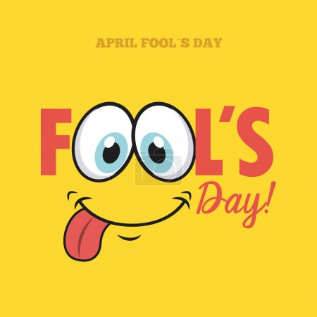 Illustration for Fools day design, vector illustration eps10 graphic - Royalty Free Image