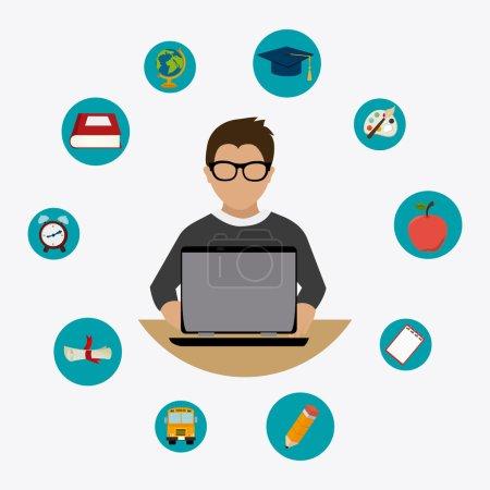 E- learning design illustration