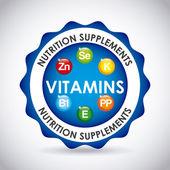 Nutrition supplements design vector illustration eps10 graphic