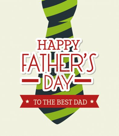 Illustration for Happy fathers day card  design,vector illustration. - Royalty Free Image
