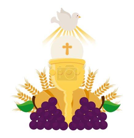 Illustration pour Première communion design, illustration vectorielle eps10 graphique - image libre de droit