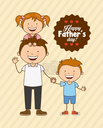 Illustration for Fathers day design, vector illustration eps10 graphic - Royalty Free Image