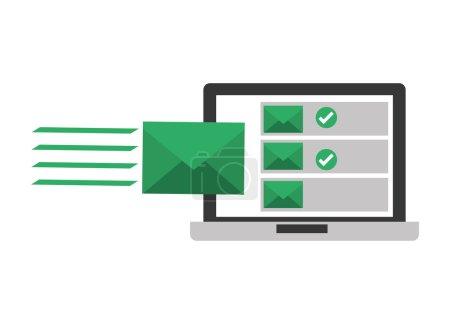 Ilustración de Diseño de concepto de correo electrónico, gráfico de vector ilustración eps10 - Imagen libre de derechos