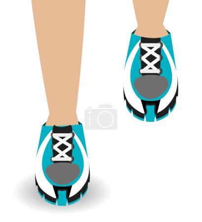 Running design illustration