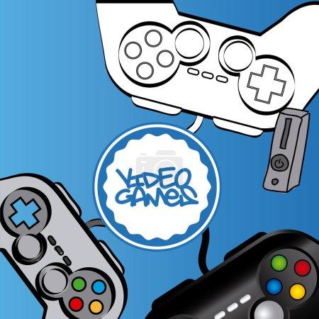 Illustration pour Conception de jeux vidéo, illustration vectorielle eps10 graphique - image libre de droit