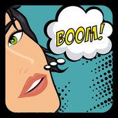 Comics design over blue background vector illustration