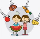 Děti jídlo design
