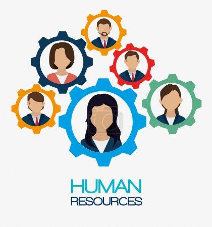 Illustration for Human resources design, vector illustration eps 10. - Royalty Free Image