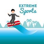 Extreme sport design, vector illustration eps10 gr...
