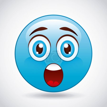 Illustration for Cartoon emoticons design, vector illustration eps10 graphic - Royalty Free Image