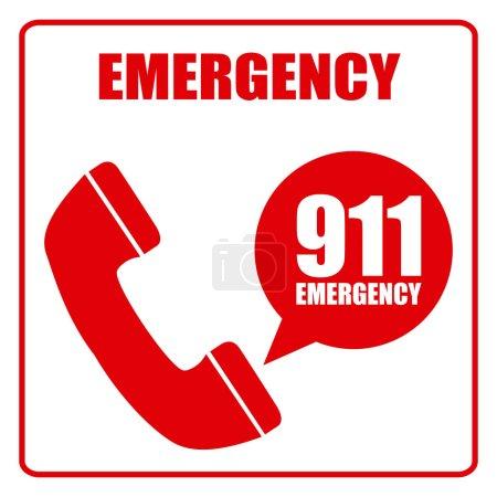 Illustration pour Conception de concept d'urgence, illustration vectorielle eps10 graphique - image libre de droit