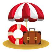 Summer vacations design vector illustration eps 10