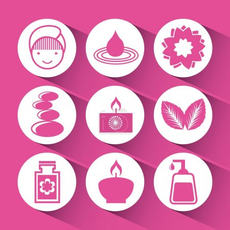Illustration for Spa icons design, vector illustration eps10 graphic - Royalty Free Image