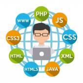 Software development design vector illustration eps10 graphic