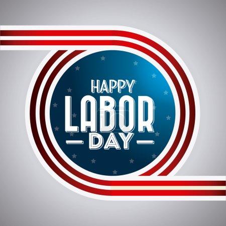 Happy labor day design.