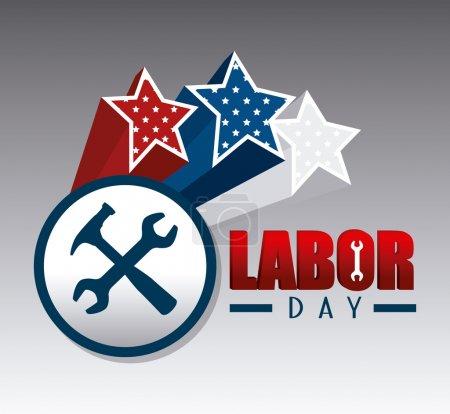 Labor day USA design.